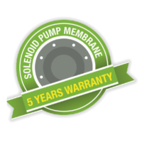 5 Year Pump Diaphragm Warranty